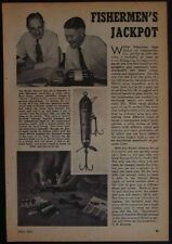 Mystic Minnow Fishing Lure kit 1952 vintage Crankbait pictorial