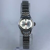 Vintage Caravelle Women M6 Waterproof Manual Wind Up Quartz Analog Wristwatch