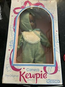 """Cameo's Kewpie 16"""" In Bunny Outfit By Jesco Original Box African American Rare!"""