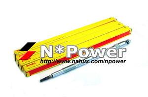 BOSCH GLOW PLUG SET 4 for Nissan NAVARA D22 ZD30DDT 3.0L TURBO 12.01-1.08 4WD