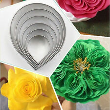 Cake Decorating Fondant Sugarcraft Cutters Tools Rose shape Mold Flower 6pcs/set