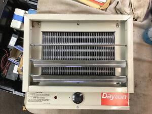 Dayton 3Ug73 5/4.1Kw Electric Utility Heater, 1-Phase, 240/208V New But Damaged