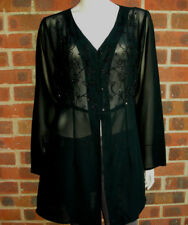 Scarlet black see-thru top/jacket UK size 18 EU 46