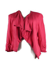 Jeanswest Lightweight Coral Pink 3/4 Sleeves Womens Jacket Size 8