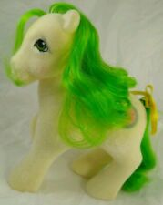 VINTAGE MY LITTLE PONY SCRUMPTIOUS SO SOFT MINTY FLOCKING ORIGINAL CURL & RIBBON