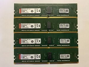 32GB (lot of 4 x 8GB) Kingston PC4-2400T-R DDR4 ECC Reg Server RAM Memory