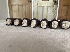 More details for vintage  plaster 7 deadly sins monks head pipe rack/candle holder halloween prop