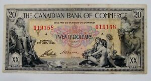 1935 Canadian Bank of Commerce $20 Note