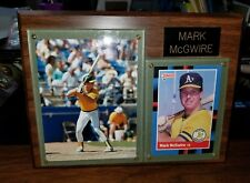 1988 BASEBALL PLAQUE WITH A DONRUSS CARD AND PHOTO OF MARK McGWIRE
