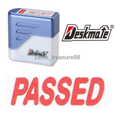 { PASSED } Deskmate Red Pre-Inked Self-Inking Rubber Stamp #KE-P03