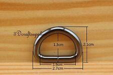 d ring d-rings purse ring Webbing Strapping metal gunmetal 3/4 inch 14 pcs U179