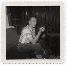 PHOTO ANCIENNE Appareil Photographié Caméra Photographe Vers 1960 Autoportrait