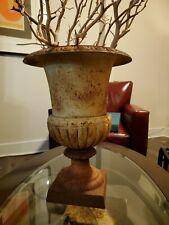 Fabulous Old French Cast Iron Urn Rusty Patina