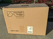Mountain Buggy Nano Duo Double Stroller In Cyber (Yellow Canopy). Brand New