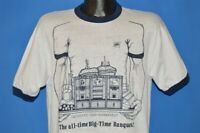vintage 80s GREYHOUND FOOD MANAGEMENT TRAY DESSERTS SANDWICHES t-shirt LARGE L