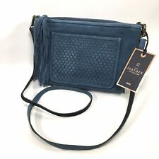 Next Ladies Small Blue Suede Over The Shoulder Bag Brand New With Tags