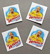 "2"" x 2"" Mr. Whites Crystal Blue Cleaner Premium Vinyl Sticker 4-Pack"