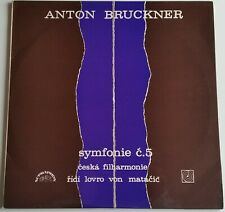 Bruckner Symphony Nr. 5 Czech Philharmonic Matacic Supraphon Stereo 1101211-12