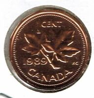 1989 Canadian Proof Like One Cent Elizabeth II Coin!