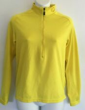 Pearl Izumi Running Top XS X-Small Bright Yellow half zip neck