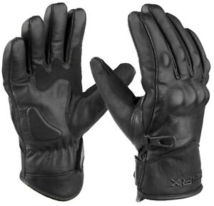 Waxer Leather Motorbike Gloves Waterproof Thermal Motorcycle Protection