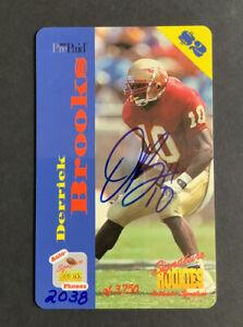 Derrick Brooks 1995 Signature Rookies Phone Card Auto #2038/3750 Nrmt-mint