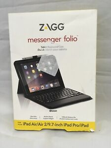 ZAGG Messenger Folio Tablet Keyboard Case- Apple iPad Pro 9.7/Air/Air 2
