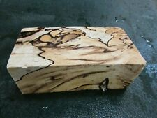 SPALTED HACKBERRY DELUXE KNIFE BLOCK/SCALES/ CALLS/ PEN BLANKS--H--G--2