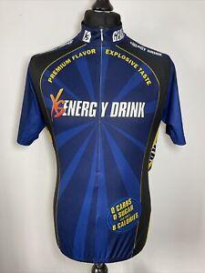Custom Clothing Company Amway XS Energy Drink Blue Cycling Jersey Shirt XL