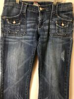 Lucky Brand: Gene Montesano Women's Dungarees Ashbury Blue Jeans Size 6/28 Boot