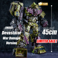 NEW JINBAO Oversized GT Devastator War Damage 6in1 Engineering Collection Figure