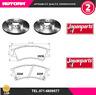 KIT87-G 2 Disco freno+Kit pastiglie freno ant. Hyundai Atos (JAPANPARTS)