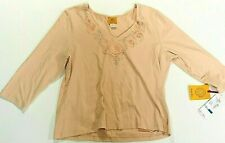 Ruby Rd.  Pink  Women blouse embroidered Size XL. New With Tags