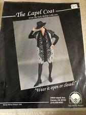 Vtg Judy Bishop Art to Wear The Lapel Coat Indie Pattern XS S M L XL XXL Box#3