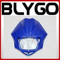 BLUE Rec Reg Head Light Lamp+ Strip PITPRO Trail Dirt Motrocycle Motorcross Bike