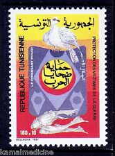 Tunisia 1991 MNH, Protect Birds, Pigeon, Red Crescent  -  Re26