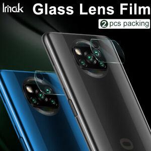 2pcs IMAK Clear Camera Lens Tempered Glass Screen Film For Xiaomi Poco X3 NFC