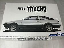 Aoshima 51566 1/24 The Model Car5 TOYOTA AE86 Sprinter Trueno GT-APEX '85 Japan