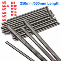 1PCS Threaded Rod 304 Stainless Steel Screw M2 M2.5 M3 M4 M5 M6 M8 M10 M12 M16