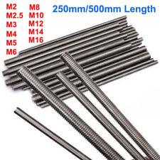 1PCS Threaded Rod 304 Stainless Steel Screw M2 M2.5 M3 M4 M5 M6 M8 M10 M12 M16