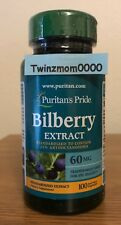 Bilberry Fruit Extract 60mg 100 Capsules Eye Health Antioxidants Anthocyanidins
