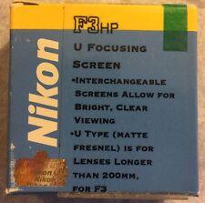 Nikon Focusing Screen Type U for Nikon F3HP - NOS