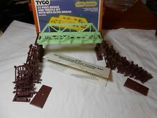 "HO TRAIN VINTAGE TYCO 33 PC OVER & UNDER TRESTLE & ""NITE GLOW BRIDGE"" SET NIB!"