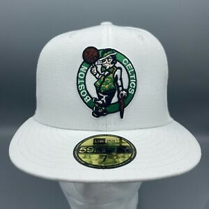 Boston Celtics New Era Official 59FIFTY Fitted Hat - White Size 7