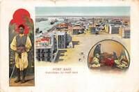 br106510 panorama de port said egypt africa folklore costume litho