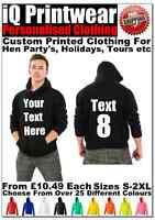 Stag Hoodies Stag Do Party Night Hoody Mens Custom Printed Personalised