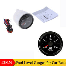 52MM Pointer Fuel Level Gauge 0-190ohm 240-33ohm Adjustable Meter for Marine Car