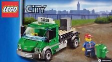 LEGO Train City Green Cargo Truck Lorry & Minifigure Railway Station Worker