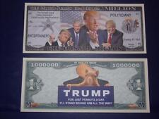 UNC.DONALD TRUMP NOVELTY NOTE ONLY .25 SHIPPING FREE SHIP + FREE NOTES!
