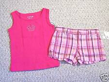 NWT CHEROKEE PLAID SHORTS & CIRCO TANK GIRLS LG (10/12)